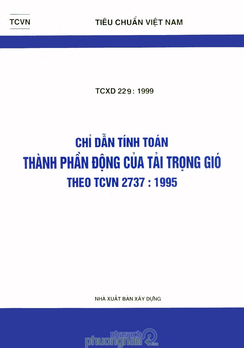 Chỉ dẫn tính toán thành phần động tải trọng gió theo TCVN 2737-1995