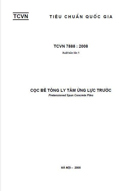 TCVN 7888:2008 CỌC BÊ TÔNG LY TÂM ỨNG LỰC TRƯỚC