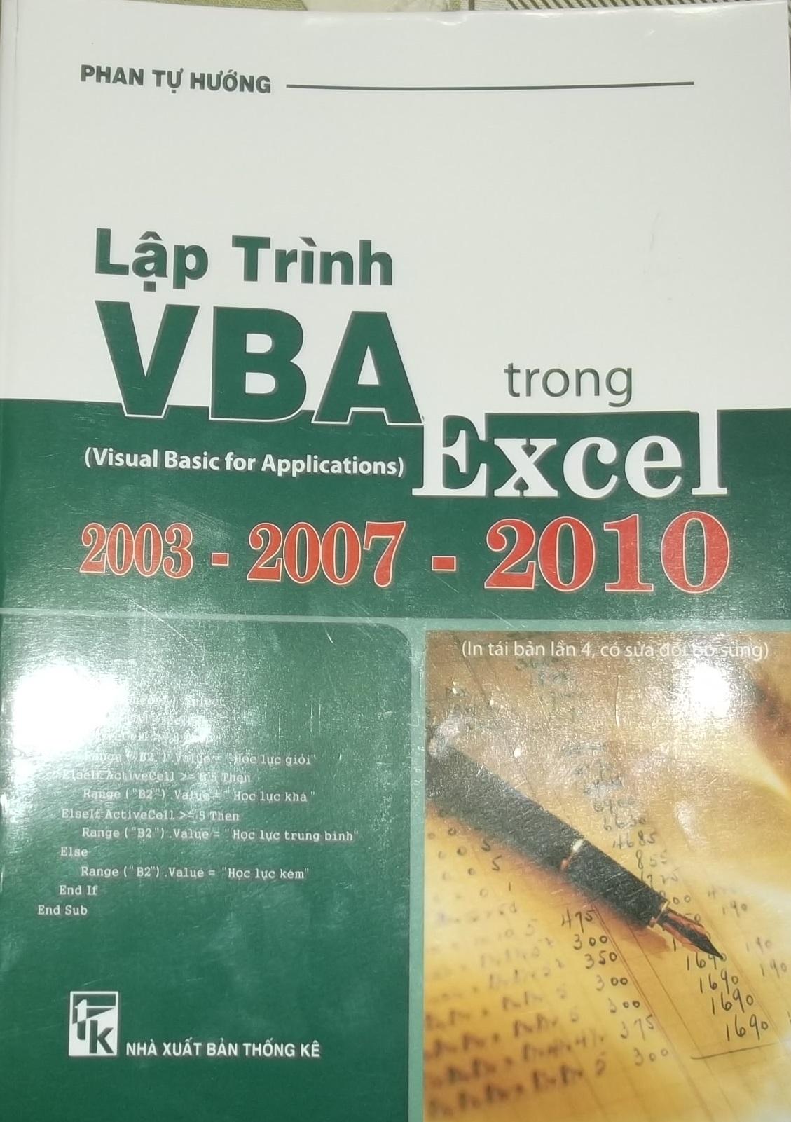 Lập trình VBA trong excel - Phan Tự Hướng