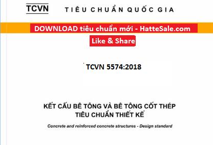 TCVN 5574-2018: Kết cấu bê tông và bê tông cốt thép (Design of concrete and reinforced concrete structures)