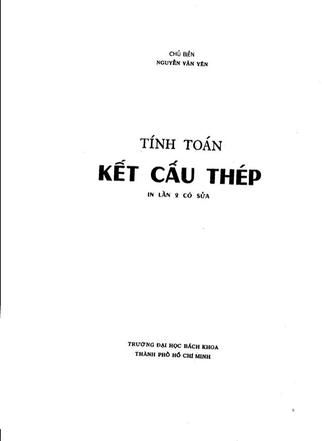 Tính toán kết cấu thép - Nguyễn Văn Yên