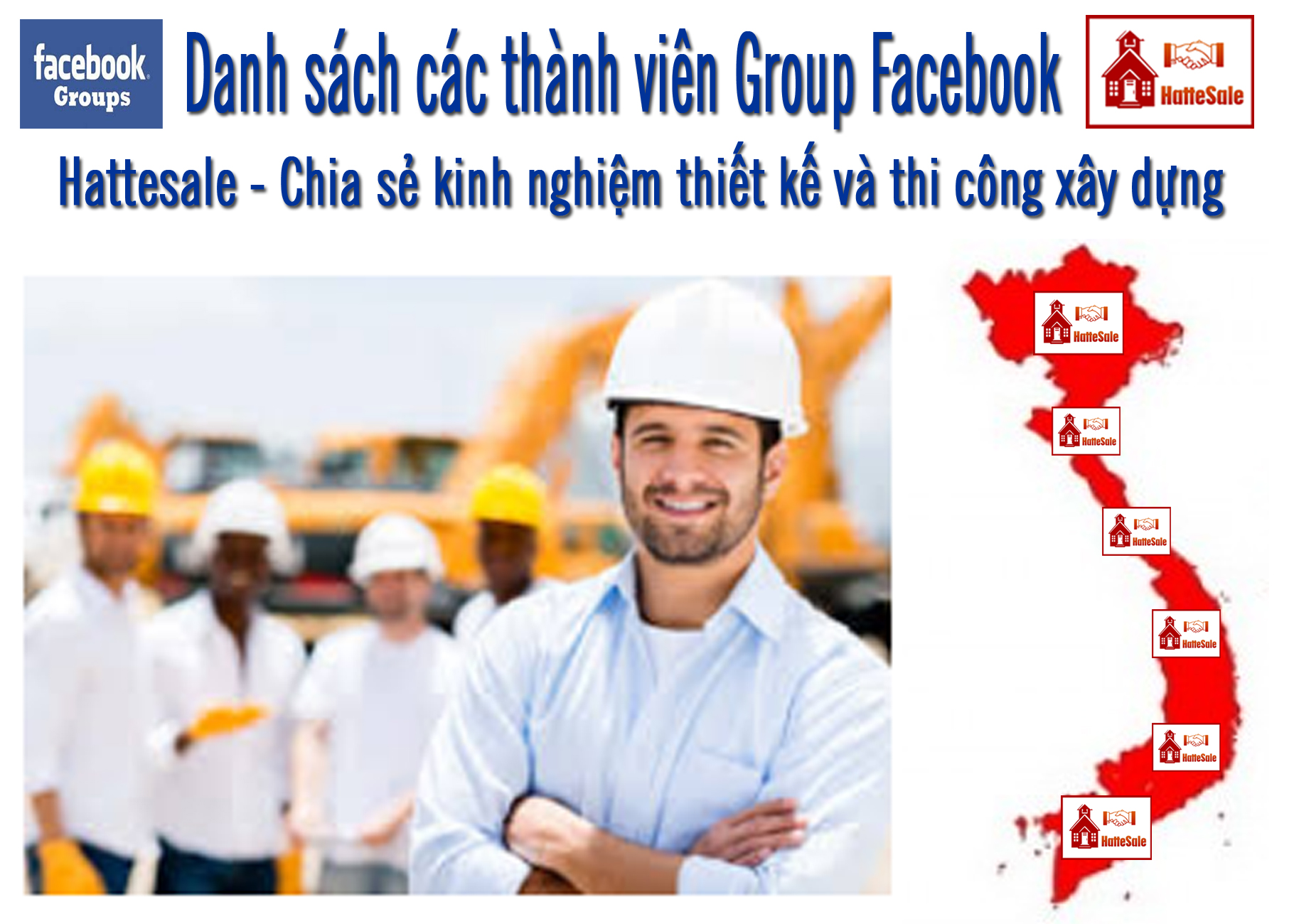 Danh sách các tài khoảng facebook là thành viên Group Hattesale - Chia sẻ kinh nghiệm thiết kế và thi công xây dựng