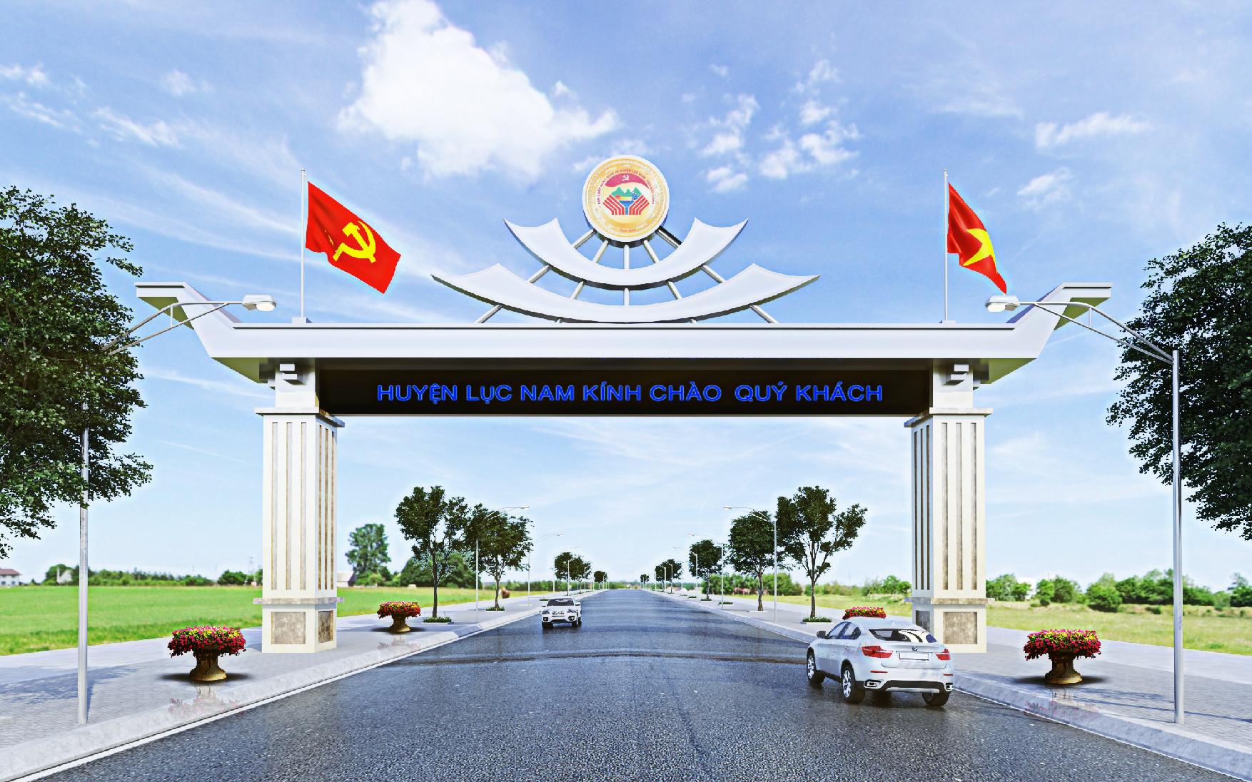 Thiết kế BVTC Cổng trào H. Lục Nam - Bắc Giang